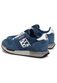 Niebieskie sneakersy Napapijri na co dzień, z cholewką