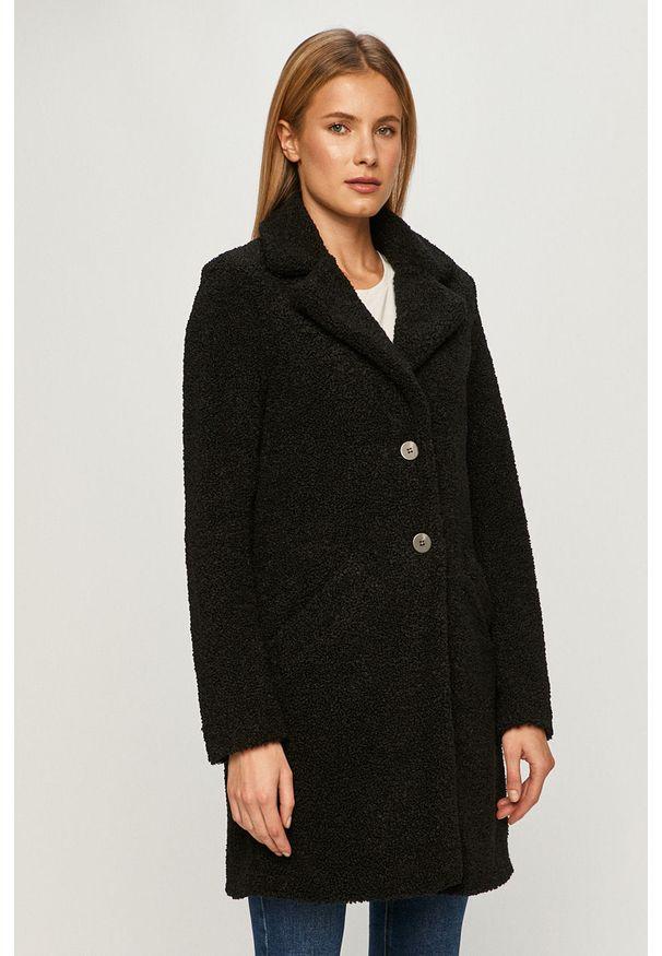 Czarny płaszcz Vila na co dzień, klasyczny