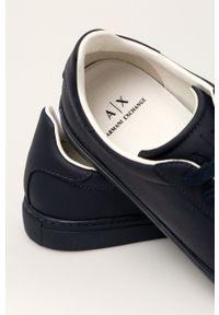 Armani Exchange - Buty XUX001.XV093. Zapięcie: sznurówki. Kolor: niebieski. Materiał: guma. Szerokość cholewki: normalna