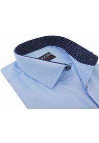 Niebieska elegancka koszula Modini w kropki