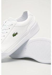 Lacoste - Buty skórzane Challenge 01020 2 SMA. Nosek buta: okrągły. Zapięcie: sznurówki. Kolor: biały. Materiał: skóra. Szerokość cholewki: normalna #3