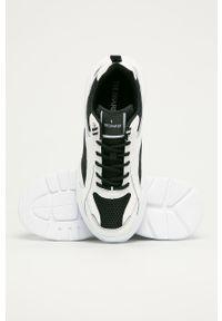 Białe sneakersy Trussardi Jeans na sznurówki, z cholewką