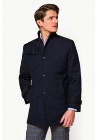 Niebieska kurtka Lancerto ze stójką, na jesień, krótka, klasyczna