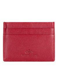Wittchen - Etui na karty kredytowe. Kolor: czerwony. Materiał: skóra
