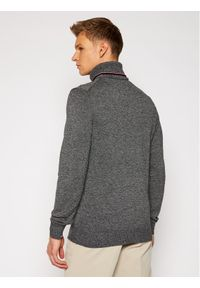 Tommy Hilfiger Tailored Sweter MERCEDES-BENZ Warm Roll Neck TT0TT08425 Szary Regular Fit. Kolor: szary