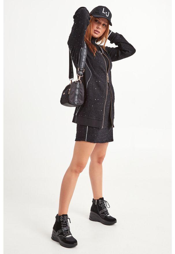 Bluza Liu Jo Sport z dekoltem w kształcie v, na co dzień, sportowa, długa