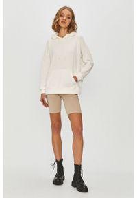 Biała bluza only z kapturem, z długim rękawem, długa