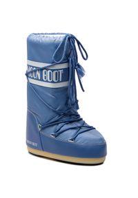 Niebieskie śniegowce Moon Boot na zimę