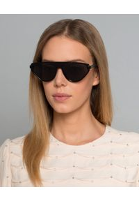 Dior - DIOR - Okulary Blacktie. Kolor: czarny. Materiał: materiał. Wzór: aplikacja