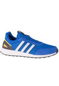 Niebieskie sneakersy Adidas z cholewką