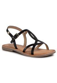 Czarne sandały Gioseppo na lato