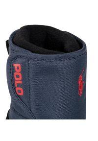 Niebieskie buty zimowe Polo Ralph Lauren z cholewką