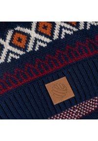 Ciepła czapka zimowa w norweskie wzory PaMaMi - Granatowy. Kolor: niebieski. Materiał: poliamid, akryl. Wzór: ze splotem, kolorowy. Sezon: zima. Styl: sportowy