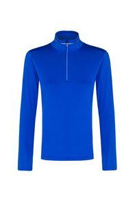 Niebieski sweter Descente krótki, na zimę