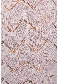 Fioletowy sweter Haily's w ażurowe wzory, z długim rękawem, długi
