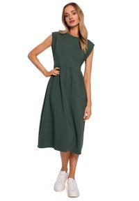 Zielona sukienka MOE midi