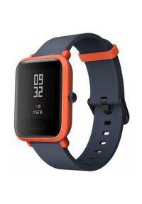 Czerwony zegarek AMAZFIT smartwatch, casualowy