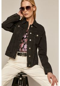 medicine - Medicine - Kurtka jeansowa Denim. Okazja: na co dzień. Kolor: czarny. Materiał: jeans, denim. Styl: casual