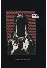 medicine - Medicine - T-shirt bawełniany Urban Punk. Kolor: czarny. Materiał: bawełna. Wzór: gładki, nadruk