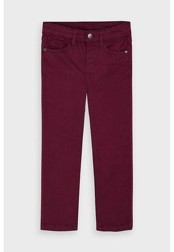 Brązowe jeansy Mayoral w kolorowe wzory