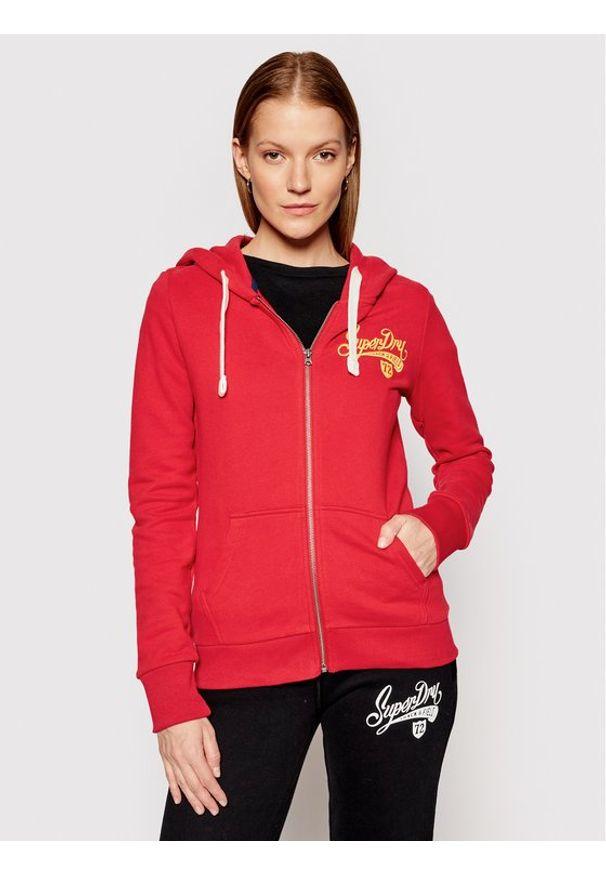 Superdry Bluza Collegiate W2011182A Czerwony Regular Fit. Kolor: czerwony