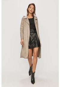 Szary płaszcz Vero Moda klasyczny, bez kaptura