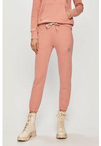 Różowe spodnie dresowe Femi Stories gładkie