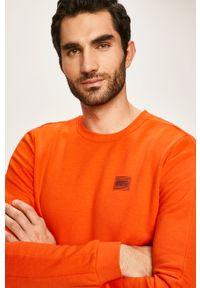 Pomarańczowa bluza nierozpinana Tom Tailor Denim na co dzień, casualowa, z okrągłym kołnierzem