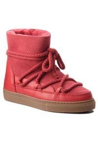 Inuikii - Buty INUIKII - Sneaker Classic 60202-1 Red. Okazja: na spacer. Kolor: czerwony. Materiał: skóra, zamsz. Sezon: zima, jesień