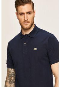 Niebieska koszulka polo Lacoste casualowa, krótka, polo