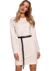 Sukienka MOE oversize, z długim rękawem, mini