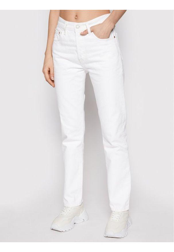 Levi's® Jeansy 501® Crop 36200-0155 Biały Cropped Fit. Kolor: biały