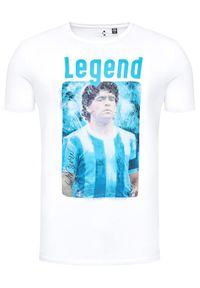 Only & Sons - ONLY & SONS T-Shirt Diego Maradona 22021552 Biały Regular Fit. Kolor: biały