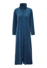 Cellbes Welurowy szlafrok ciemnoniebieski female niebieski 34/36. Kolor: niebieski. Materiał: welur