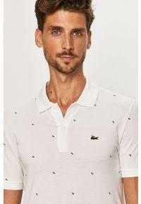 Biała koszulka polo Lacoste polo, krótka