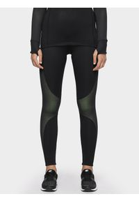 Czarne spodnie sportowe 4f do biegania