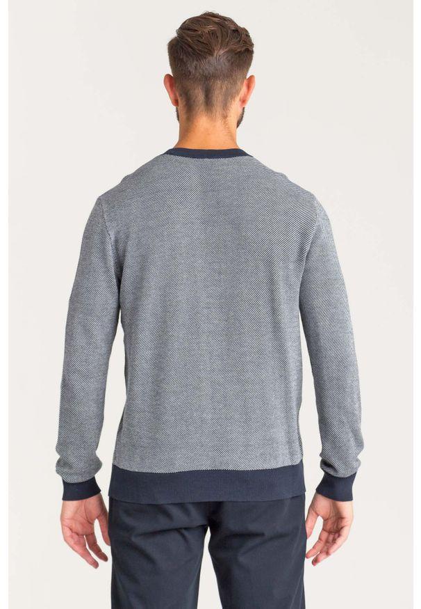 Sweter Armani Exchange z okrągłym kołnierzem, w kolorowe wzory