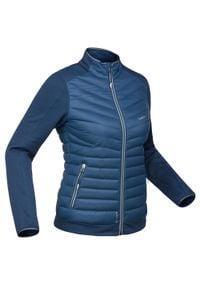 WEDZE - Bluza narciarska 900 damska. Kolor: niebieski. Materiał: materiał, polar, puch. Sport: narciarstwo