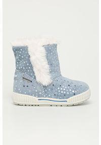 Niebieskie buty zimowe Primigi na zamek, na zimę