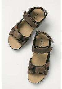 Brązowe sandały Wojas na rzepy, gładkie
