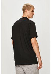 Czarny t-shirt Prosto. na co dzień, casualowy, z nadrukiem