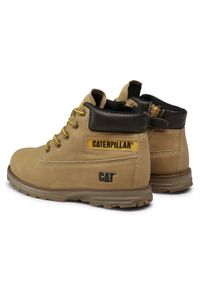 Brązowe buty zimowe CATerpillar na spacer, z cholewką