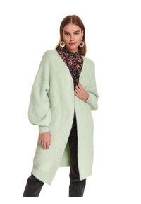 Zielony sweter TOP SECRET długi, z długim rękawem