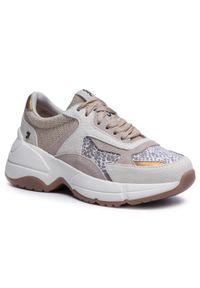 Beżowe buty sportowe Gioseppo na płaskiej podeszwie, z cholewką