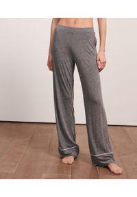 Warm Day Szerokie Spodnie W Jednolitym Kolorze - M - Szary - Etam. Kolor: szary. Wzór: jednolity