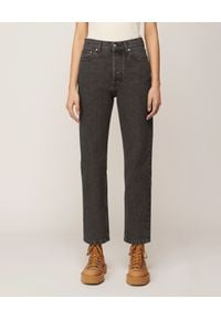 NANUSHKA - Szare jeansy Kemia. Stan: podwyższony. Kolor: szary. Styl: vintage