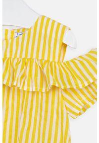 Żółta bluzka Mayoral na co dzień, casualowa, krótka