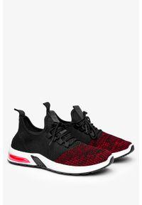 Casu - Czarne buty sportowe sznurowane casu a15-1. Kolor: czarny, czerwony, wielokolorowy