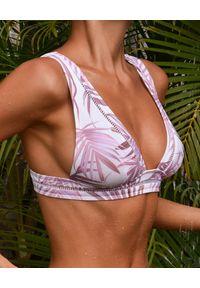 CAHA CAPO - Top od bikini Hannah. Kolor: beżowy. Materiał: materiał. Wzór: nadruk, aplikacja