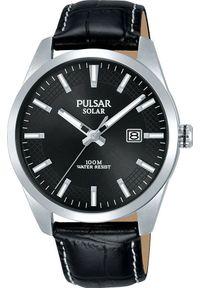 Zegarek Pulsar Zegarek Pulsar Solar męski klasyczny PX3185X1 uniwersalny. Styl: klasyczny